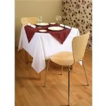 "Polyester Table Linen White 90"" Square Tablecloth"